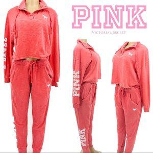 PINK Victoria's Secret Oversized Crop Shirt